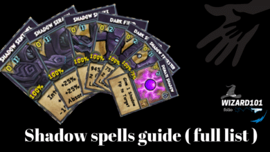 Photo of Wizard101 Shadow spells Guide