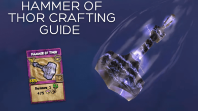 Photo of Hammer of Thor Crafting Guide