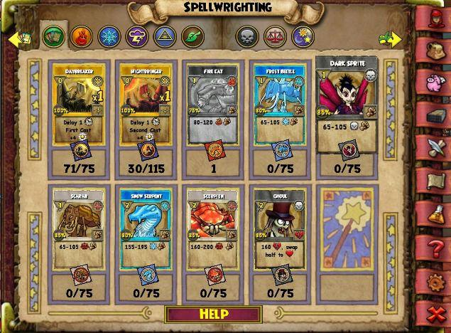 Wizard101 spellements